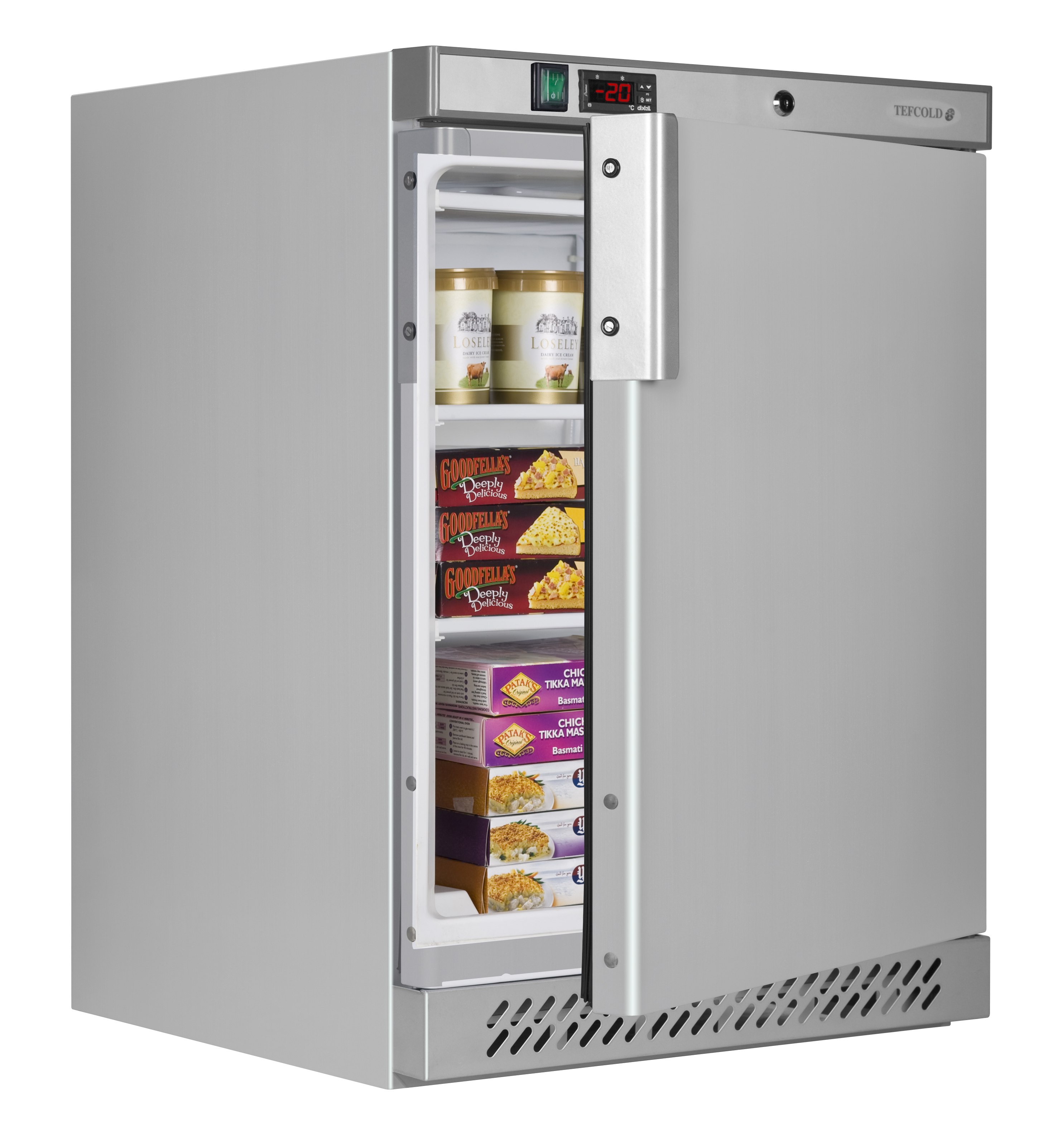 uf200ss Stainless St Freezer Open